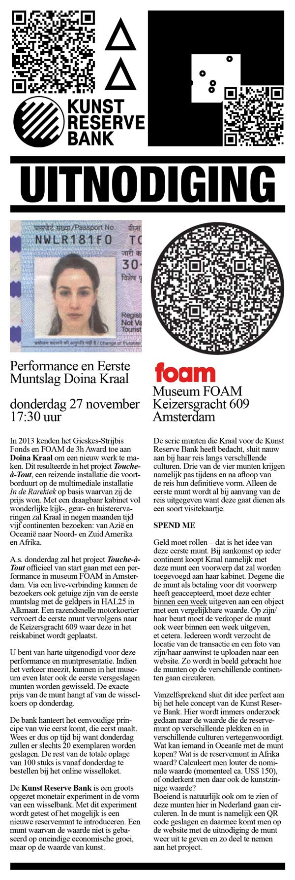 Uitnodiging 27 November 2014